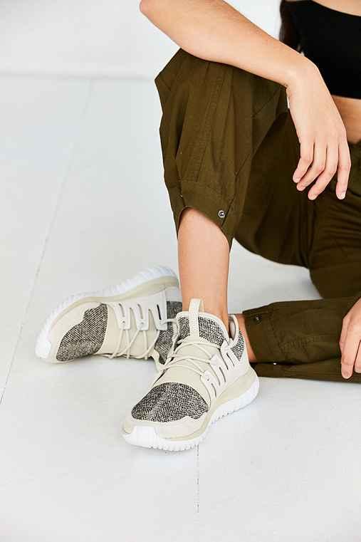 adidas Tubular Radial Sneaker,BROWN,W 7/M 5.5