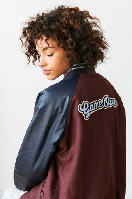 BDG True Winner Patched Varsity Jacket