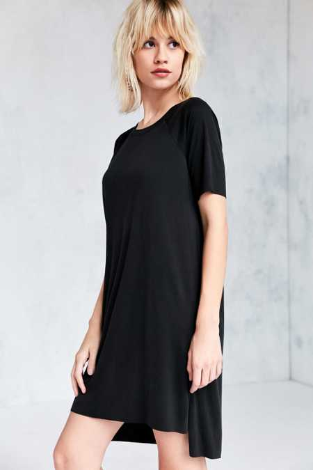 Silence + Noise Ribbed Mini T-Shirt Dress
