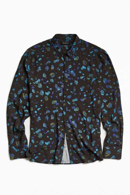 UO Owen Stones Rayon Button-Down Shirt