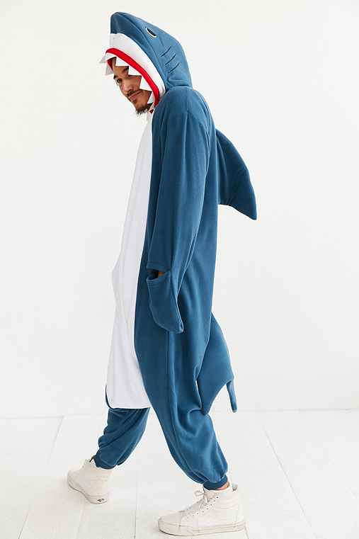Kigurumi Shark Costume,BLUE,ONE SIZE