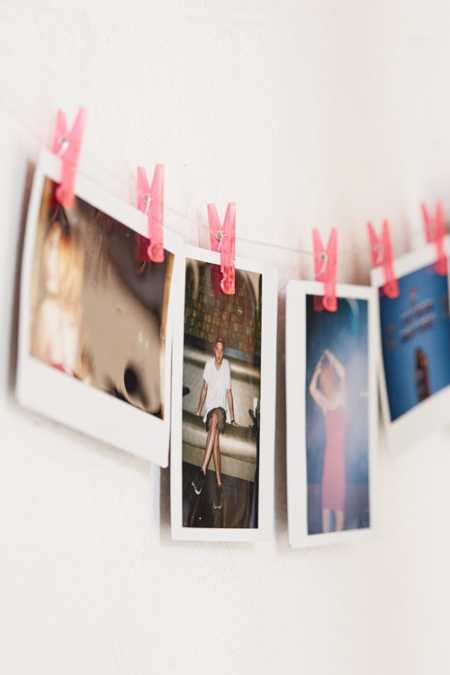 Pink Photo Clips String Set