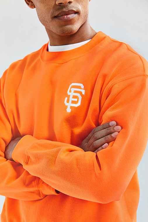 Giants Fleece Crew Neck Sweatshirt,MEDIUM ORANGE,S