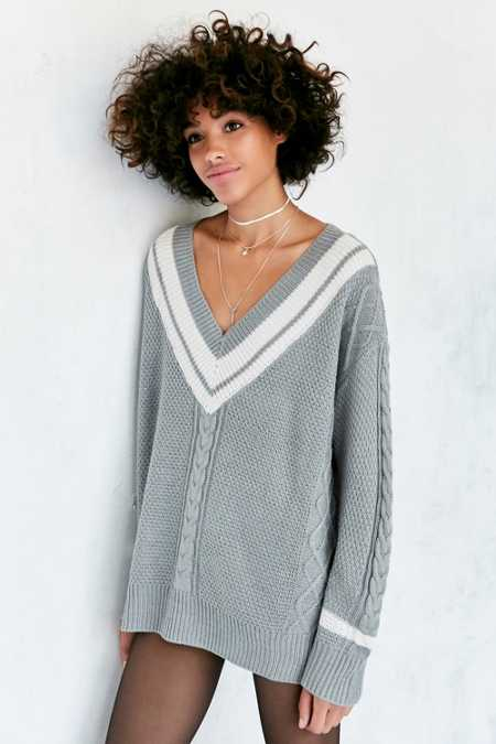 BDG Game Set Match Deep-V Pullover Sweater