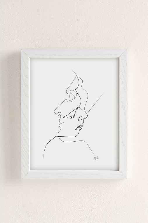 Quibe Close Art Print,WHITE WOOD FRAME,13X19