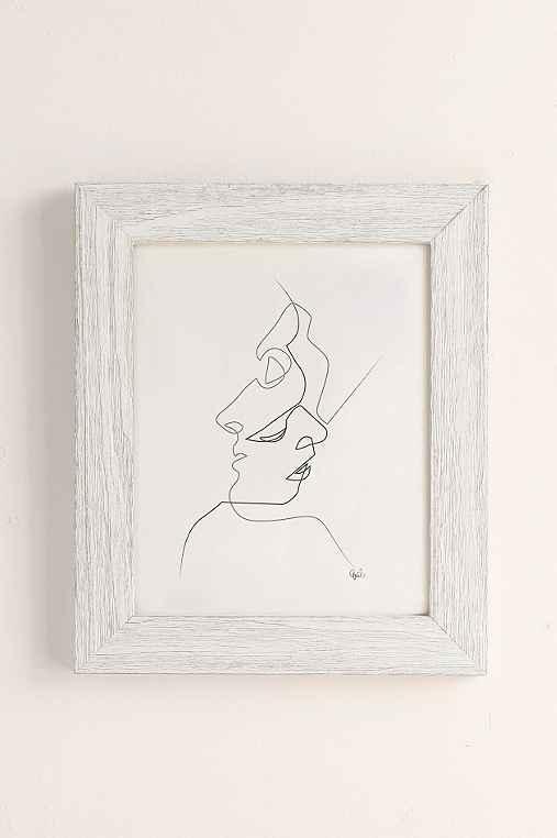Quibe Close Art Print,WHITE BARNWOOD FRAME,30X40
