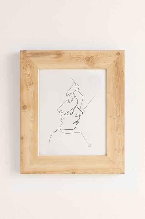 Quibe Close Art Print,PINE FRAME,18X24
