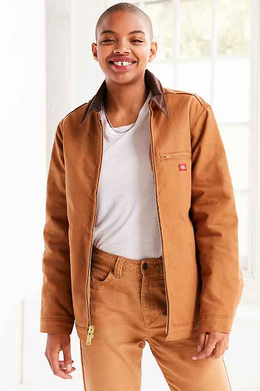 Dickies Flannel Lined Jacket,BROWN,XS