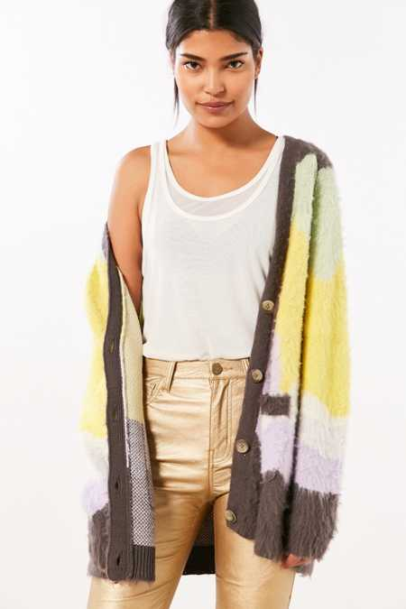 Ecote Gigi Cozy Brushed Colorblock Cardigan