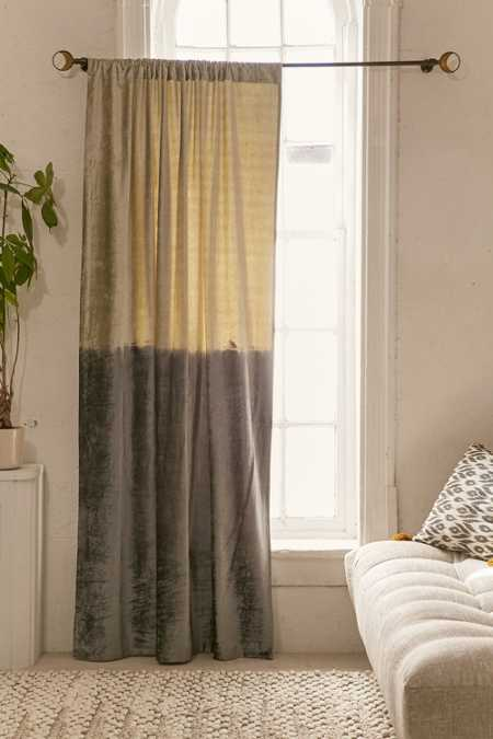 Velvet Dip-Dyed Curtain