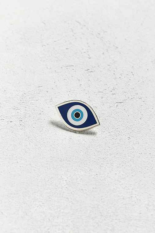 These Are Things Evil Eye Pin,BLUE,ONE SIZE