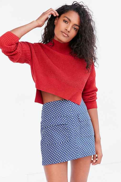 BDG Girl Scout A-Line Mini Skirt,NAVY,XS