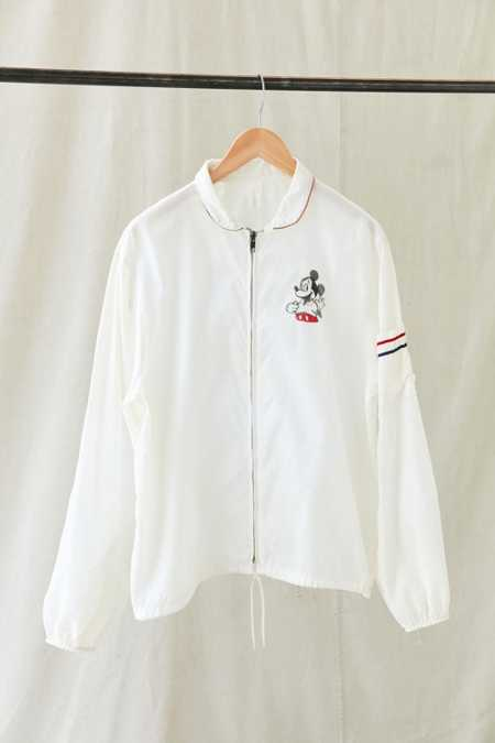 Vintage Mickey White Windbreaker Jacket
