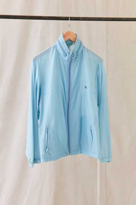 Vintage Ocean Pacific Light Blue Windbreaker Jacket
