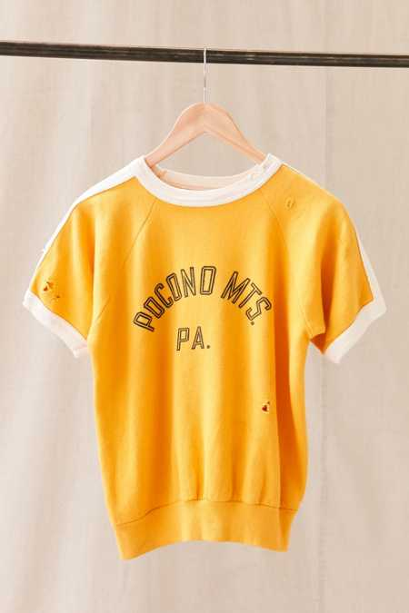 Vintage Pocono Mountains Short-Sleeved Sweatshirt