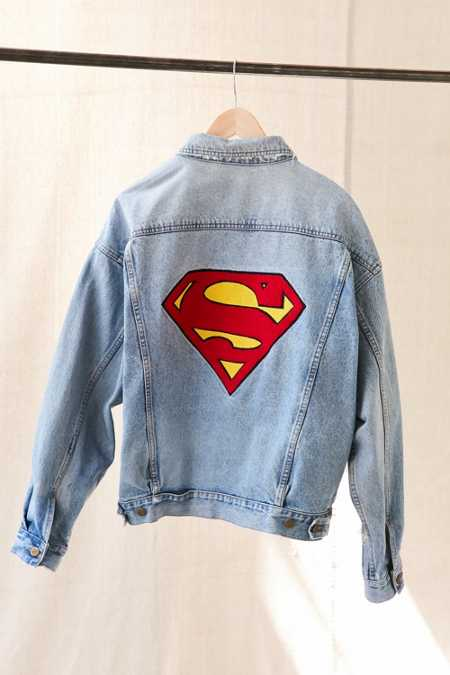 Vintage Superman Patch Denim Jacket