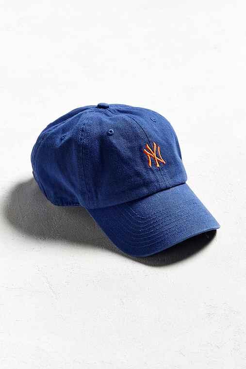'47 Brand NY Micro Logo Baseball Hat,BLUE,ONE SIZE