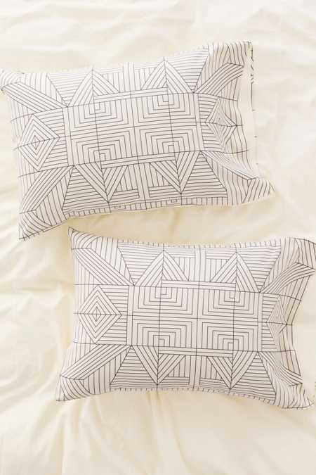 Holli Zollinger For DENY Line Mandala Pillowcase Set