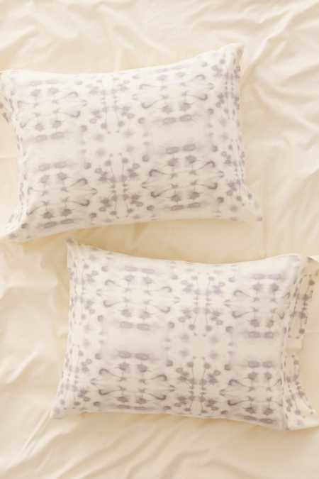 Jacqueline Maldonado For DENY Mirror Dye Light Grey Pillowcase Set