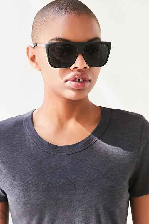 Quay X Desi Perkins On The Low Square Sunglasses,BLACK,ONE SIZE