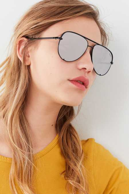 Quay X Desi Perkins High Key Aviator Sunglasses