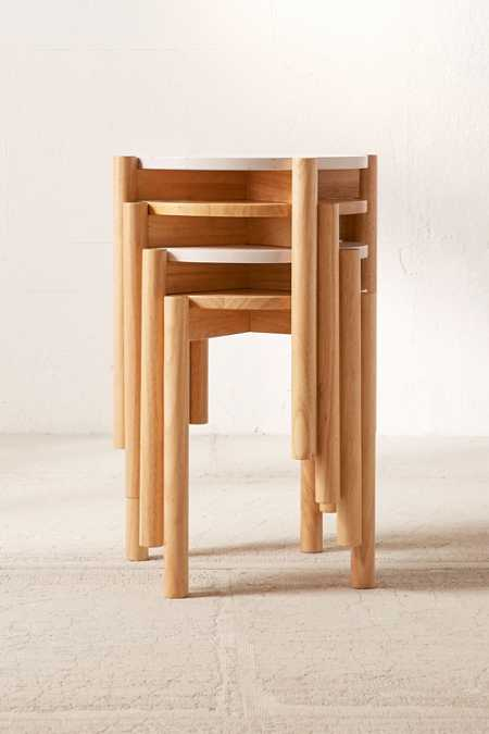 Otto Wood Stacking Stool