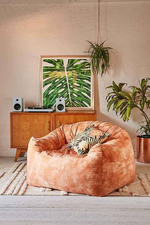 Rossanna Dye Pattern Soft Lounge Chair,PEACH SHIBORI,ONE SIZE