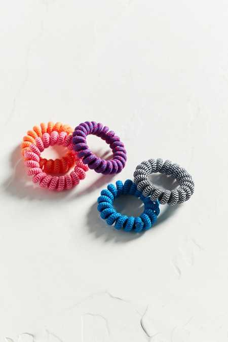 Telephone Cord Ponytail Holder Set
