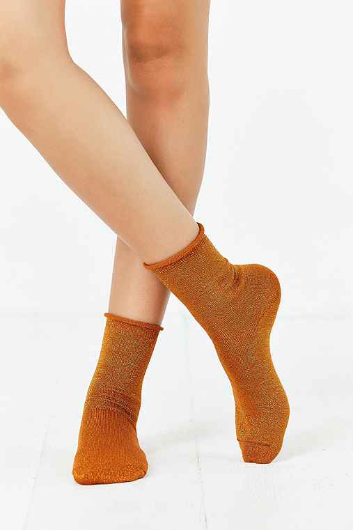 Out From Under Sparkle Party Anklet Sock,BRONZE,ONE SIZE
