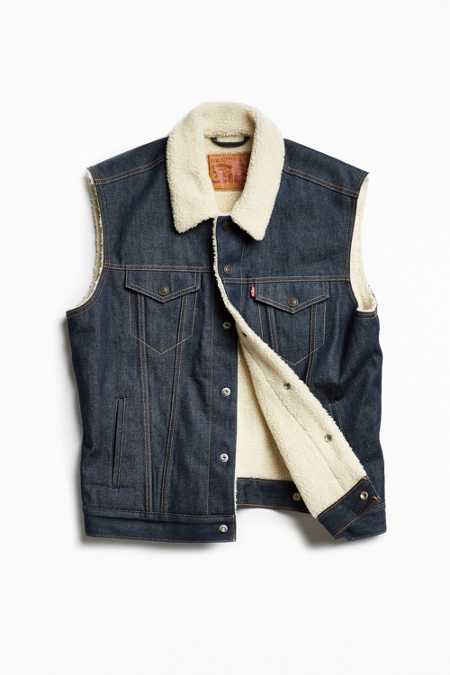 Levi's Denim Sherpa-Lined Vest