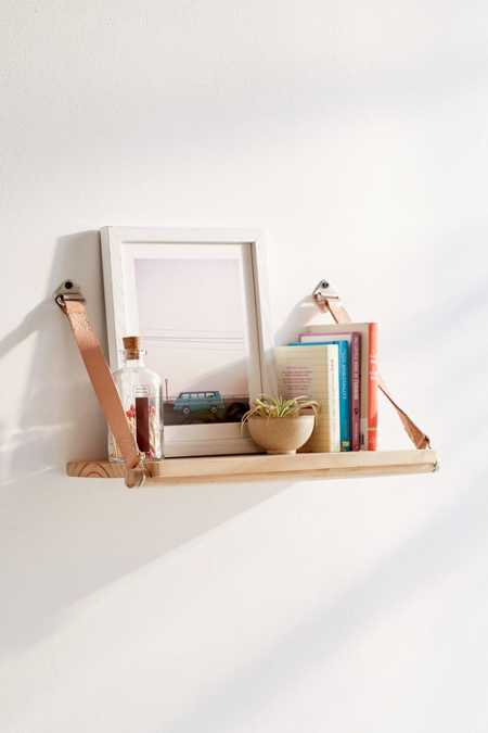 Harper Leather Strap Shelf