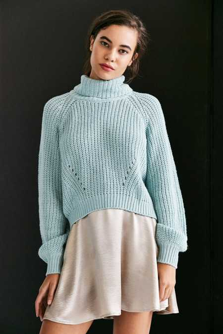 Kimchi Blue Noah Balloon-Sleeve Turtleneck Sweater