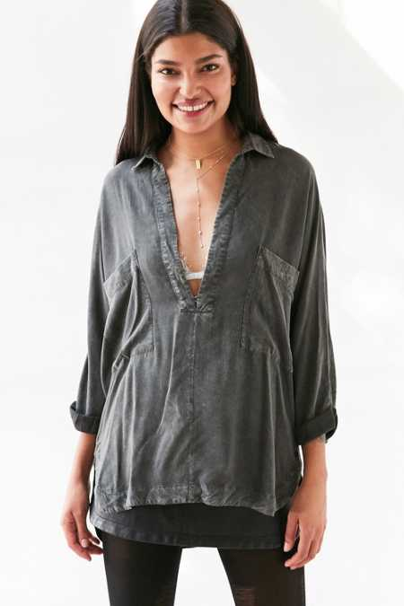 Silence + Noise Heffe Pullover Tunic Shirt