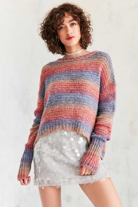 Ecote Daybreak Gradient Stripe Sweater