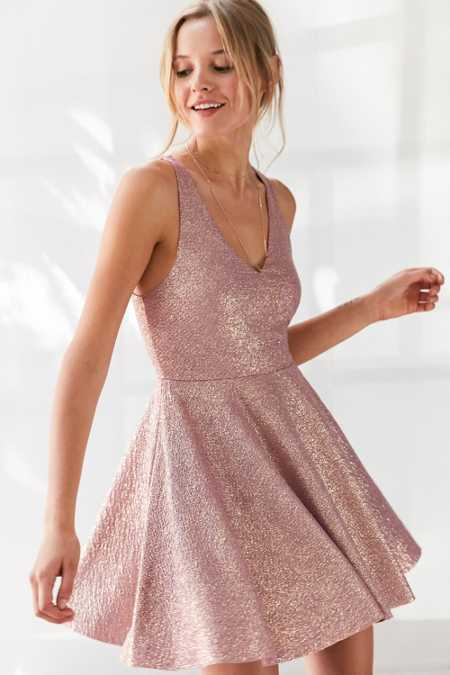 Silence + Noise Sinderella Sparkle Mini Dress
