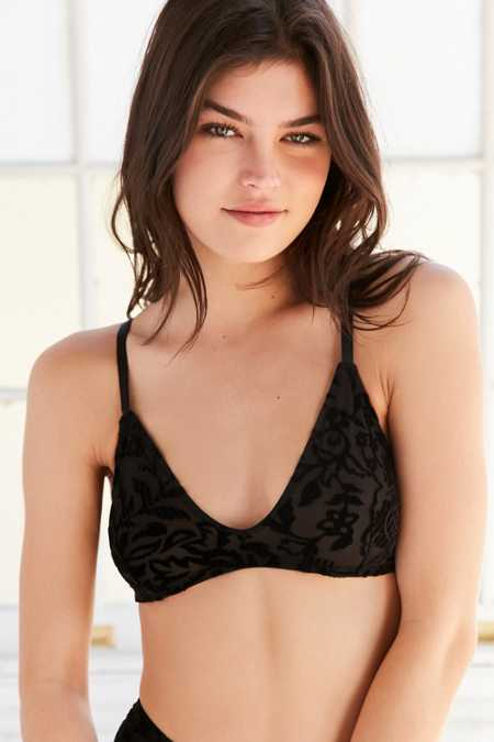 Out From Under Sabrina Burnout Velvet Bra