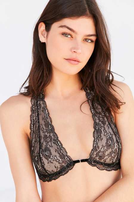 Out From Under Front Closure Lace Halter Bra