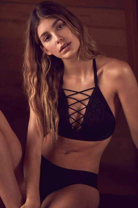 Out From Under Lace Me Up Halter Bra