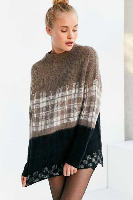 Silence + Noise Gunner Plaid Sweater