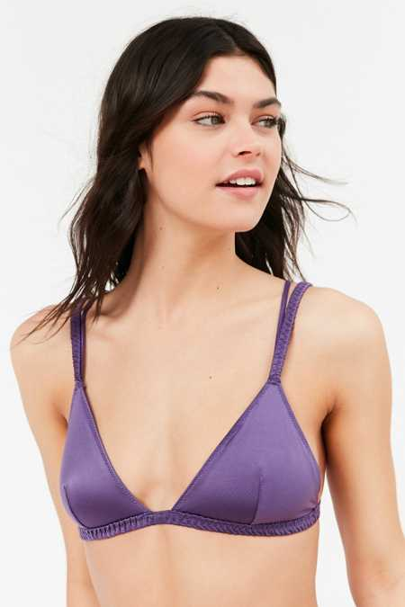 Out From Under Satin Patitz Triangle Bra