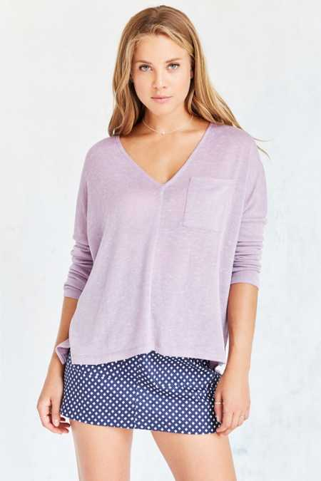 BDG Blake V-Neck Pocket Pullover Sweater