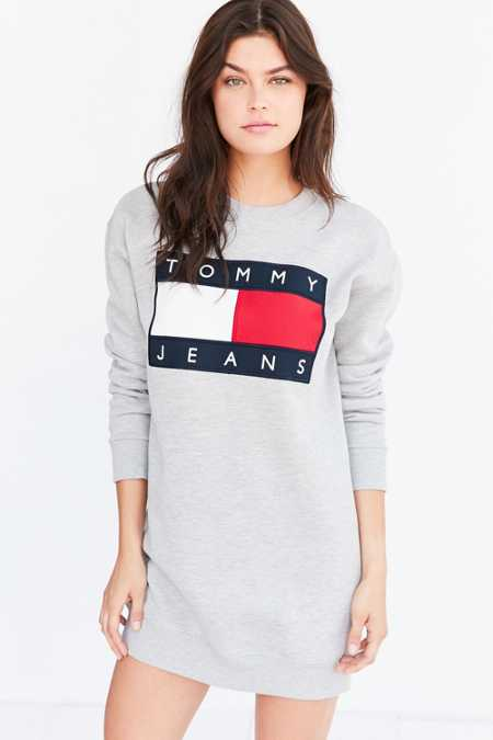 Tommy Jeans For UO '90s Logo Sweatshirt Mini Dress