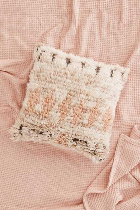 Neutral Boucherouite Wool Pillow