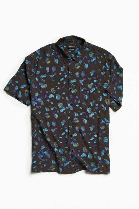 UO Owen Stones Rayon Short Sleeve Button-Down Shirt