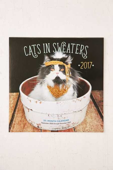 2017 Cats In Sweaters Wall Calendar