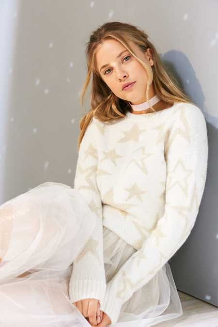 Ecote Starry Night Shimmer Sweater
