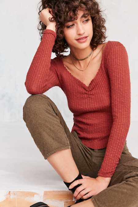 Truly Madly Deeply Grace Cinch-Front Thermal Top