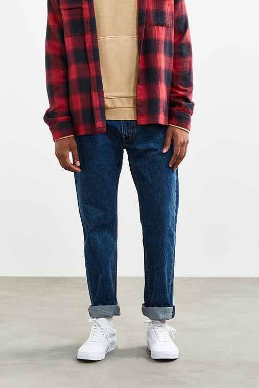Levi's 505 Dark Stonewash Slim Jean,VINTAGE DENIM MEDIUM,36/32