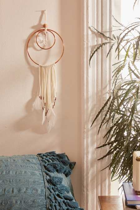 Crescent Moon Dream Catcher Wall Hanging