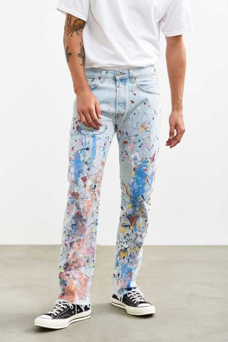 US Rags Heavy Paint Splat Slim Jean